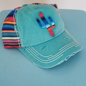 NWT Mint Serape Cactus Hat